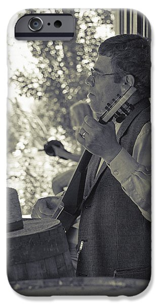 Historical Re-enactments iPhone Cases - Banjo Player 2 - Pioneer Village Re-enactment iPhone Case by Steve Ohlsen