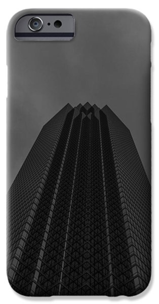Bank Of America iPhone Cases - Bank Of America Dallas Vertical iPhone Case by Jonathan Davison