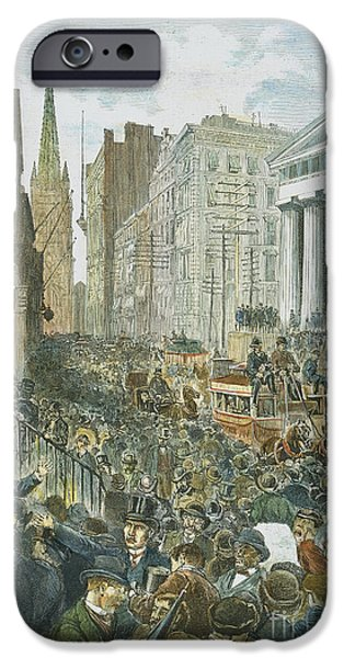 BANK PANIC, 1884 iPhone Case by Granger