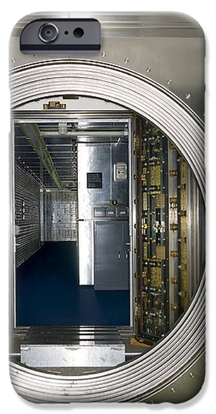 Bank Vault Interior iPhone Case by Adam Crowley