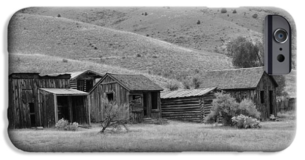 White House iPhone Cases - Bannack Ghost Town - Bachelors Row iPhone Case by Image Takers Photography LLC - Laura Morgan