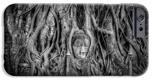 Buddhism Digital iPhone Cases - Banyan Tree iPhone Case by Adrian Evans