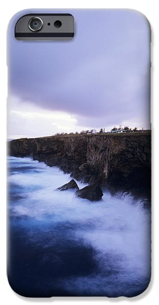 Cemetary iPhone Cases - Banzai Cliff iPhone Case by Mitch Warner - Printscapes