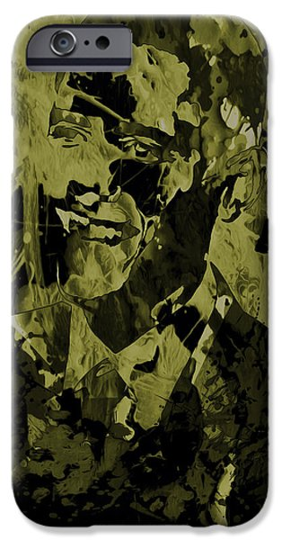Obama iPhone Cases - Barack Obama 3a iPhone Case by Brian Reaves