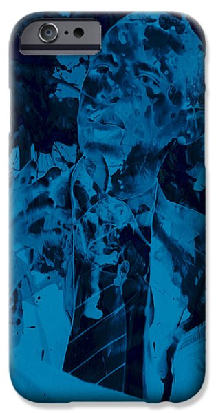 Obama iPhone Cases - Barack Obama 4a iPhone Case by Brian Reaves