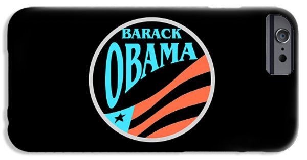 President Obama Tapestries - Textiles iPhone Cases - Barack Obama iPhone Case by Peter Fine Art Gallery  - Paintings Photos Digital Art