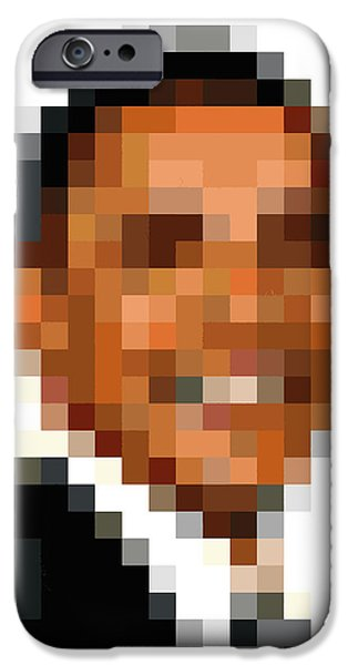 Obama iPhone Cases - Barack Obama Pixelface iPhone Case by Pixel Face
