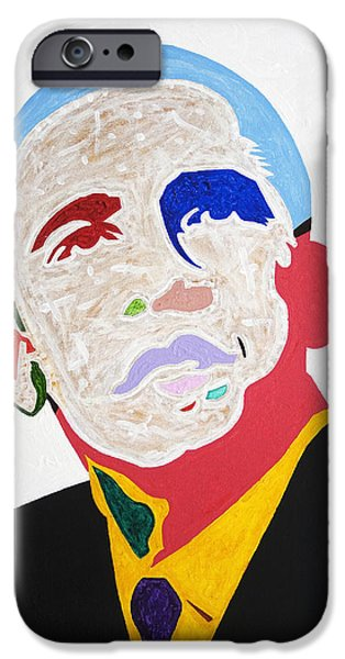Barack Obama iPhone Cases - Barack Obama iPhone Case by Stormm Bradshaw