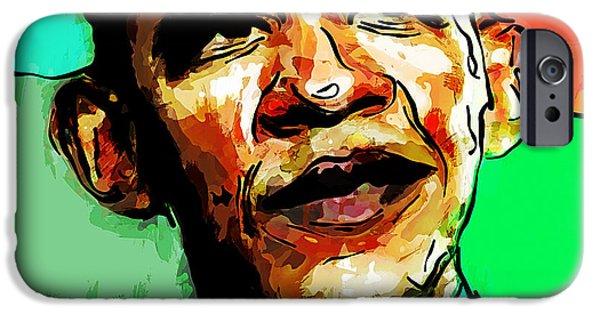 Barack Obama Mixed Media iPhone Cases - Barack Obama iPhone Case by Vya Artist