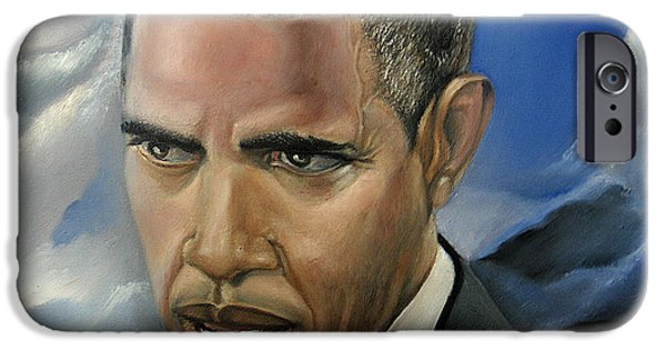 Barack Obama iPhone Cases - Barack iPhone Case by Reggie Duffie