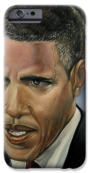 BARACK iPhone Case by Reggie Duffie