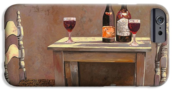 Wine Glasses Paintings iPhone Cases - Barbaresco iPhone Case by Guido Borelli