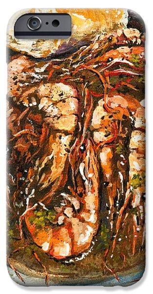Barbequed Shrimp iPhone Case by Dianne Parks