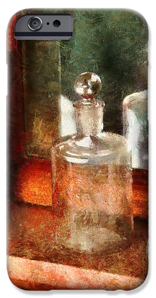 Barber - On a barbers counter  iPhone Case by Mike Savad