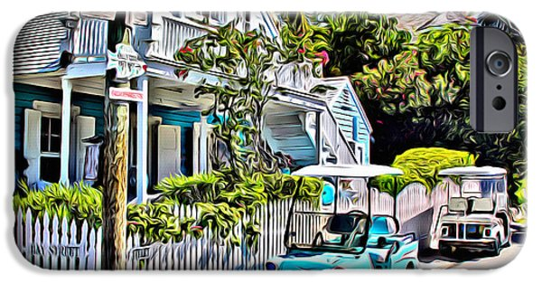 Bamboo Fence Digital iPhone Cases - Harbour Island House iPhone Case by Anthony C Chen