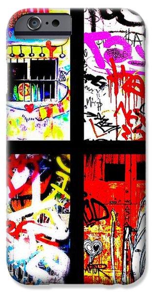 Barcelona Doors ... All Graffiti iPhone Case by Funkpix Photo Hunter