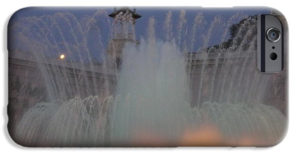 Close Up Glass iPhone Cases - Barcelona in the Mist iPhone Case by Marsha Painter