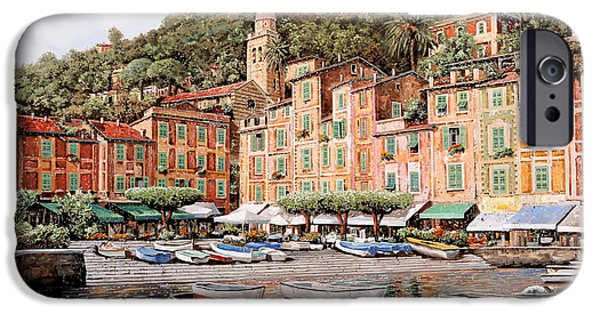 Cruise iPhone Cases - barche a Portofino iPhone Case by Guido Borelli