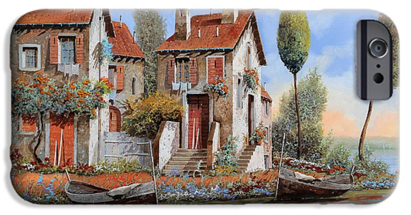Buy iPhone Cases - Barche A Riva iPhone Case by Guido Borelli