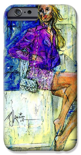 Model iPhone Cases - Barefoot City Nights iPhone Case by P J Lewis