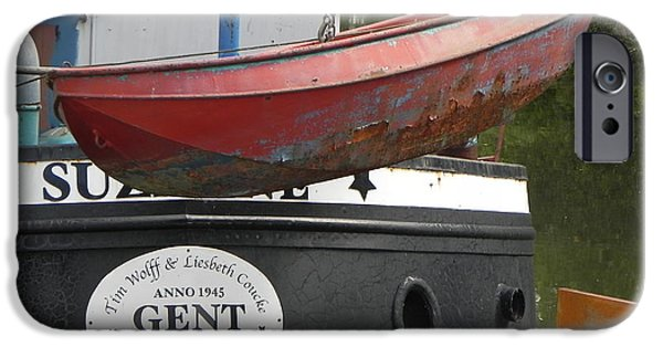 Boat iPhone Cases - Barge Tender iPhone Case by David Stephen Draper