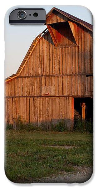 Barn at Early Dawn iPhone Case by Douglas Barnett