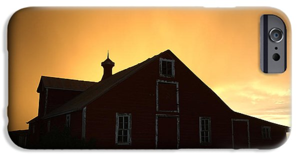 Nebraska iPhone Cases - Barn at Sunset iPhone Case by Jerry McElroy
