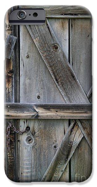 Old Barns iPhone Cases - Barn Door Detail iPhone Case by Ken Andersen