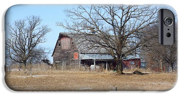 Old Barns iPhone Cases - Barn Forgotten iPhone Case by Paula Henry