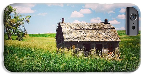 Recently Sold -  - Old Barns iPhone Cases - Barn in South Dakota iPhone Case by Manda Koepp-Piesche
