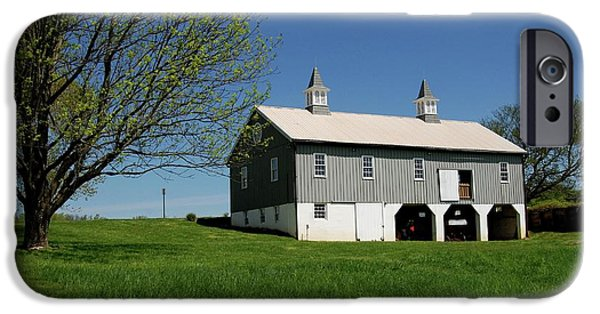 Barn Print Photographs iPhone Cases - Barn In The Country - Bayonet Farm iPhone Case by Angie Tirado