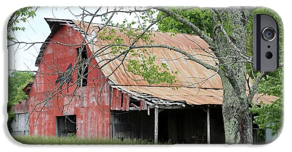 Horse iPhone Cases - barn in TN no 4 iPhone Case by Dwight Cook