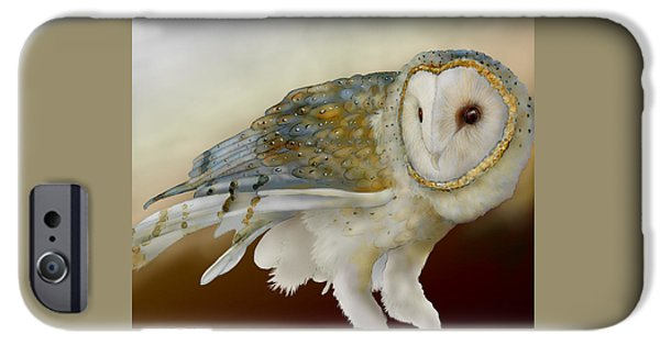 Recently Sold -  - Power iPhone Cases - Barn Owl 12 iPhone Case by Jeannine Chappell