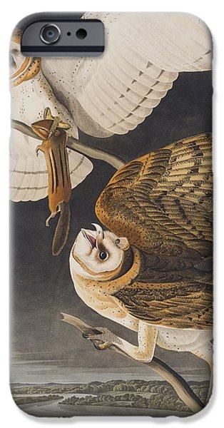 Barns iPhone Cases - Barn Owl iPhone Case by John James Audubon