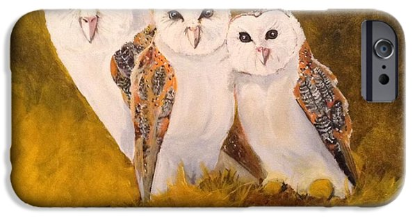 Morning iPhone Cases - Barn Owls iPhone Case by Tim Loughner