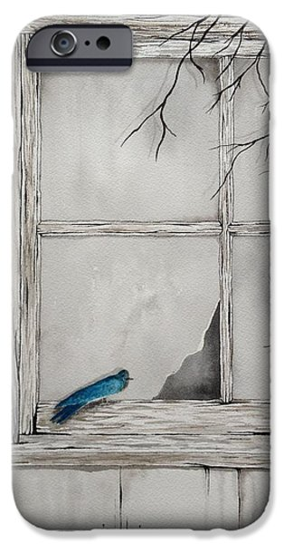 Barn Swallow Paintings iPhone Cases - Barn Swallow iPhone Case by Denise Harty
