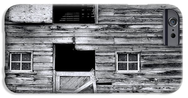 Board iPhone Cases - Barn Texture iPhone Case by Wayne Sherriff