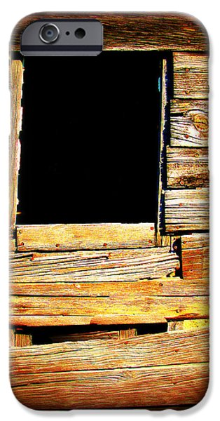 Shed iPhone Cases - Barn Window iPhone Case by Perry Webster