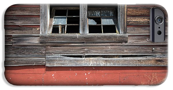 Cabin Window iPhone Cases - Barn Windows iPhone Case by Kevin Felts