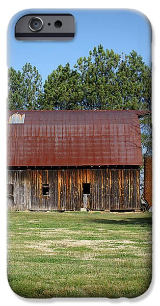 Barn with Tree in Silo iPhone Case by Douglas Barnett