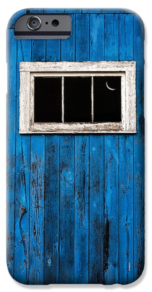 Old Barn iPhone Cases - Barn Wood Blues iPhone Case by Bill Wakeley
