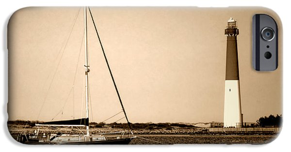 Lighthouse iPhone Cases - Barnegat Memories iPhone Case by Olivier Le Queinec