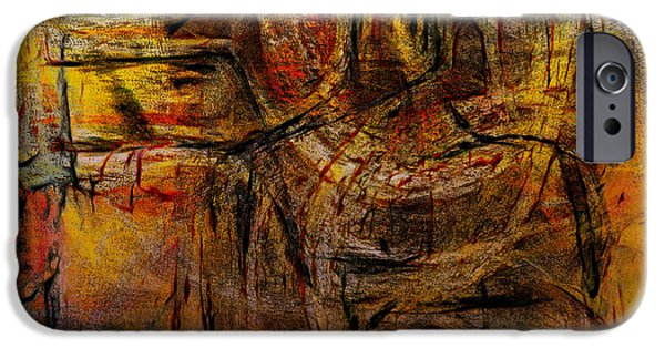 Abstract Expressionist Pastels iPhone Cases - Barong iPhone Case by Tom Kecskemeti