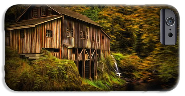 October iPhone Cases - Baroque Cedar Grist Mill iPhone Case by Mark Kiver