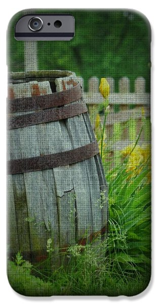 Rain Barrel iPhone Cases - Barrel and Iris iPhone Case by Kim Blaylock