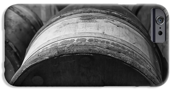 Vintage Wine Lovers Photographs iPhone Cases - Barrels of Wine iPhone Case by Nomad Art And  Design