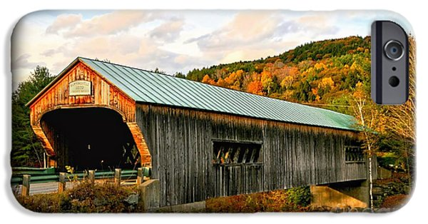 Covered Bridge iPhone Cases - Bartonsville Covered Bridge iPhone Case by DJ Florek