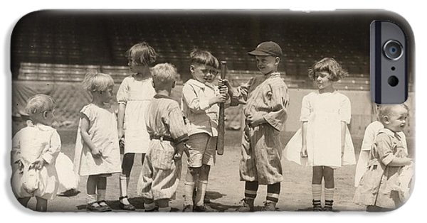 1910s iPhone Cases - Baseball: Boys And Girls iPhone Case by Granger