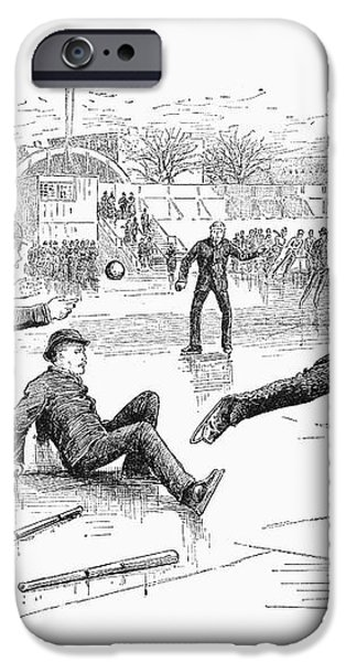 BASEBALL ON ICE, 1884 iPhone Case by Granger
