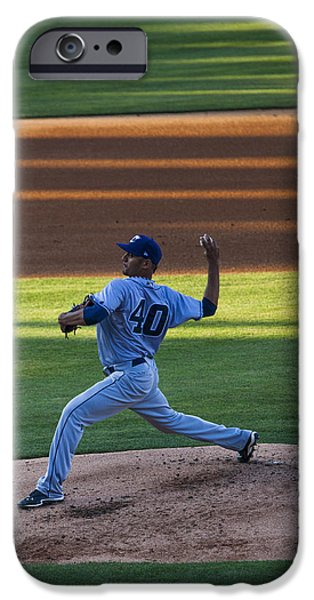 Mounds iPhone Cases - Baseball Pitcher iPhone Case by Todd Beveridge